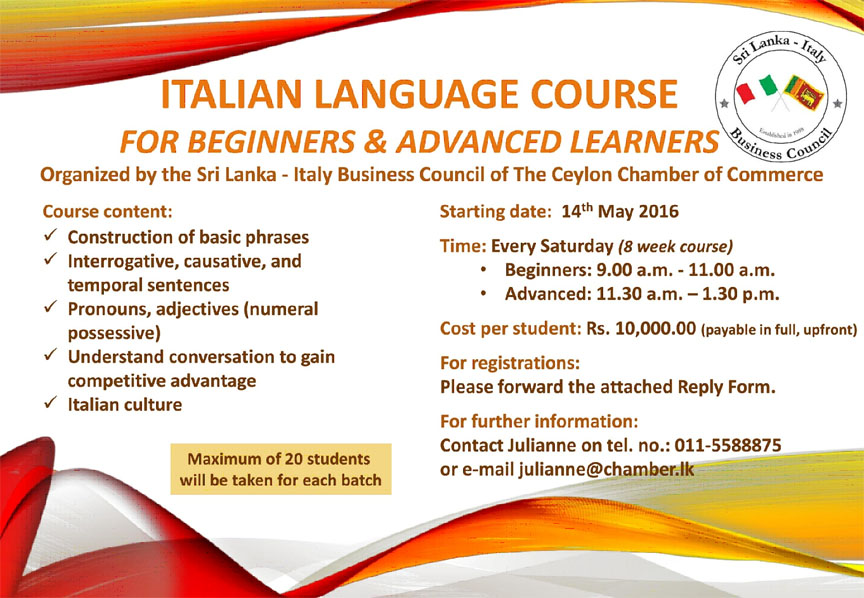 Italian Language Course for Beginners & Advanced Learners